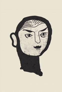 """FEMININE BRUSH FACE POSTER 11x15"""""""