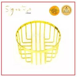 SIGNATURE by Slique Premium Metal Gold Electroplate Bread Basket