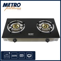 METRO PRIMERA 2  BURNER  GLASS TOP GAS STOVE