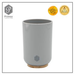 Primeo Bathroom Accessories Bamboo Gray Series Tumbler
