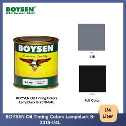 BOYSEN Oil Tinting Colors Lampblack B-2318-1/4L