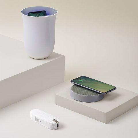 Lexon Oblio 10W wireless charging station w/ UV sanitizer