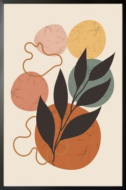 """GRAPHICAL STONE AND LEAF POSTER 24x36"""""""
