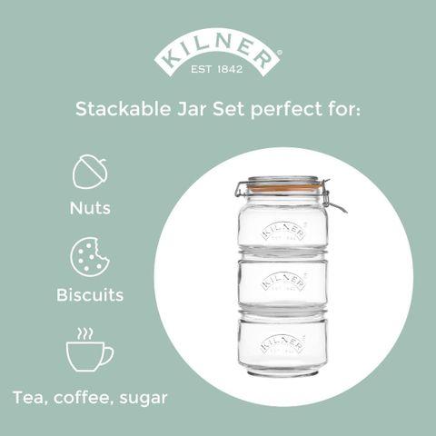 Kilner Stackable storage Jar Set