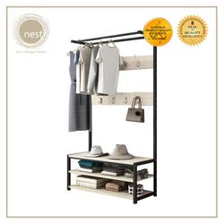 Nest Design Lab Premium Heavy duty  Durable Garment Shelf Rack 80x40x170cm