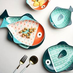 Happy Home PH Hand painted Ceramic Fish Serving Plate