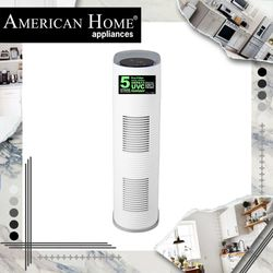 American Home AHP-20A1200HEUV AIR PURIFIER W/ HEPA 13 FILTER and UV Germicidal Light