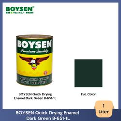 BOYSEN Quick Drying Enamel Dark Green B-651-1L