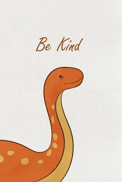"""DINO BE KIND POSTER 19x27"""""""