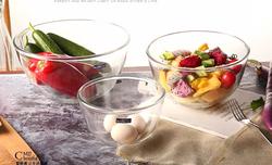 Taftan Transparent Glass Bowl 24.5cm