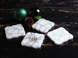 Marble Coasters Set of 4