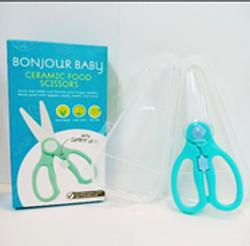 Bonjour Baby Ceramic Food Scissors w/ Safety Lock