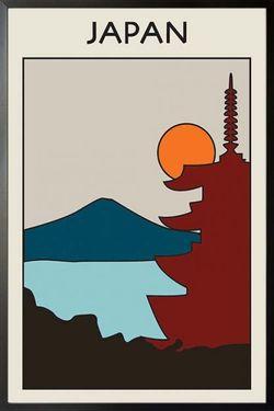 """JAPAN VINTAGE ART POSTER 8x11"""""""