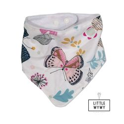 Little Wywy Bandana Bib - Butterfly w/ Flowers