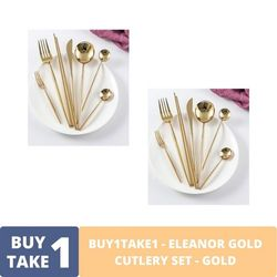 BUY1TAKE1 - Eleanor Gold Cutlery Set