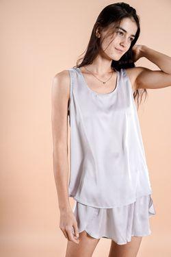 Intissimo Flo (Cloud Gray)  Silk Short Pyjama