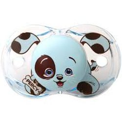 Tickled Babies Razbaby Keep-It-Klean Pacifier -  Percy Blue Puppy