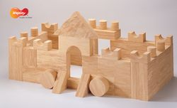 Weplay Toys Softwood Blocks - 4cm, 30pcs