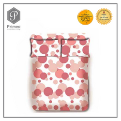Primeo Premium 220TC Twin Comforter Set, Coral Comforter, Fitted Sheet, Pillow Case Set of 4