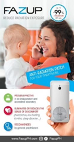 FAZUP Anti-Radiation Cellphone Patch Family Pack (4pcs)