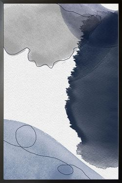 """BLUE TONE ABSTRACT POSTER 19x27"""""""