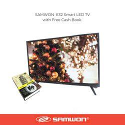 "SAMWON SW-E32 Smart Led Tv 32"" 1080p Android OS w/free wall bracket and Cash Box"