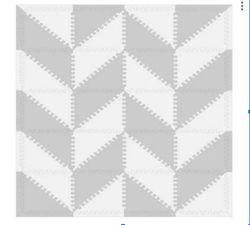 Haenim Eva Geo Mat (Light Gray)