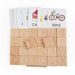 Wooden ABC Spelling Tiles