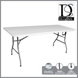 DÉCOR & STYLE DSTB 5347 6FT FOLD IN HALF TABLE