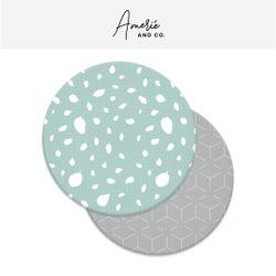 Natur Sage Reversible Playmat (Circular)