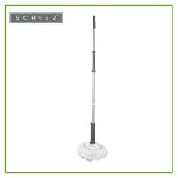 SCRUBZ Heavy Duty Cleaning Essentials Easy Grip Premium Microfiber Twist Mop 7cm X 7cm X 125cm Self-Wringing Clean all Types of Flooring