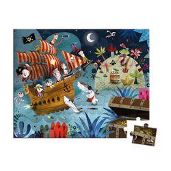 "Janod Hat Boxed 36 Pieces Puzzle ""Treasure Hunt"""