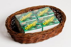 Calamansi Powder Dip (Philippine Lemon) with oval basket gift package