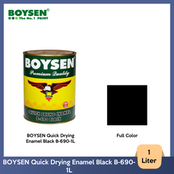 BOYSEN Quick Drying Enamel Black B-690-1L