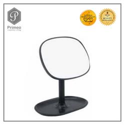 Primeo Bathroom Accessories Bamboo Black Series Vanity Mirror