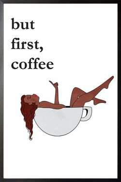 """COFFEE LADY IN A CUP POSTER 11x15"""""""