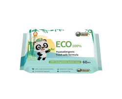 Bamboo Planet 100% Eco-friendly Bamboo Wipes (60 pcs/pack)