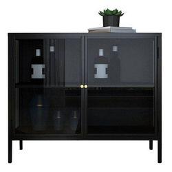 8C Clair Low Glass Cabinet (Black)