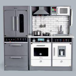 Wooden Kitchen Set with Refrigerator