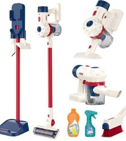 Compact Cleaning Set with Real Vacuum for kids