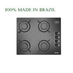 Realce Brazil 4 Burner Cooktop (Black Tempered Glass)