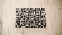 Paper Wall Decor Square Pattern 40x60