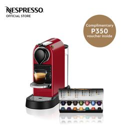 Nespresso® Citiz Red with Complimentary Welcome Coffee Set