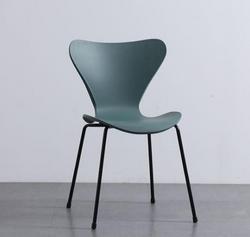 AH1 Dark Green Resin Base Stackable Chair