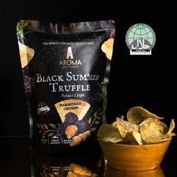 Black Summer Truffle Potato Chips Parmesan Cheese