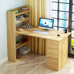 Daniel 5-Tier Shelves Working Desk - Cream