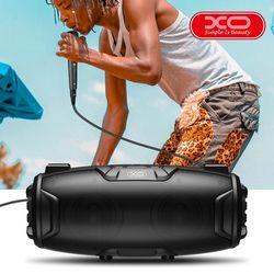 XO F25 Outdoor TWS Oval Bluetooth Speaker with Karaoke Mic