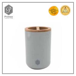 Primeo Bathroom Accessories Bamboo Gray Series Toothbrush Holder