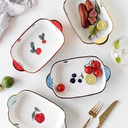 Happy Home PH Hand painted Ceramic Baking Serving Dish