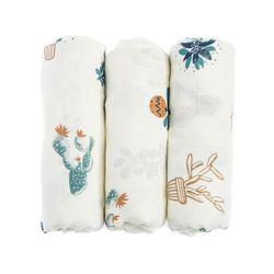 BabyStudio Succulents Bamboo Swaddle Blanket